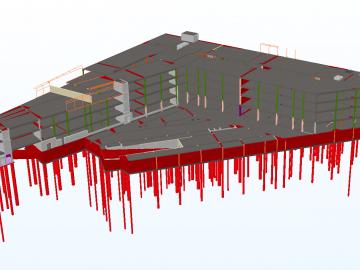 vaade Revitis projekteeritud BIM mudelile ifc formaadis